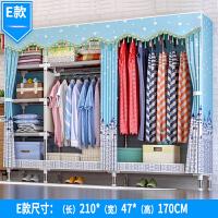 简易衣柜钢架布衣柜加粗加固双人组装布艺衣橱收纳柜经济型g 3门 组装