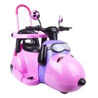 电动脚踏车儿童摩托车三轮车可坐男女宝宝童车电瓶车玩具车带护栏可推QL-76