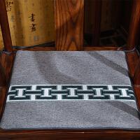 中式亚麻坐垫餐椅垫特色刺绣红木沙发官椅座垫中国风四季古典圆垫定制