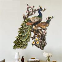 欧式复古孔雀壁挂壁饰创意家居墙饰玄关客厅背景墙挂件墙上装饰品立体浮雕装饰画