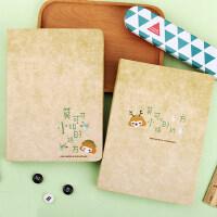 umi创意文具韩国卡通复古彩页厚日记本笔记本手账记事本本子