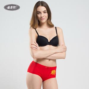 金丰田本命年女式大红可爱性感三角内裤638一条装