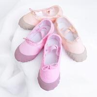 秋冬儿童舞蹈鞋女童芭蕾软底练功鞋厚帆布民舞跳舞鞋儿童舞蹈鞋
