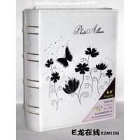 皮面相册 3R/5寸相册 200张黑色内芯插袋相册 花与蝴蝶