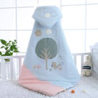 婴儿床上用品新生包被婴儿抱被小被子厚秋冬初生加厚外出四季通用用品冬季YW28