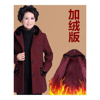 中老年女装秋冬装外套中年妈妈装毛呢大衣老人连帽加绒加厚奶奶装   预售商品     预售商品,请须知,到货后会在您下单后按先后顺序陆续为你发出,