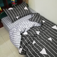纯棉三件套学生宿舍0.8米床1.0m被套床单1米2上下铺寝室单人3件套 0.8m 单人床