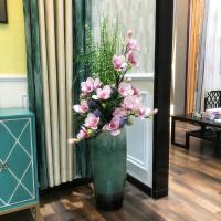瓷敞口大花瓶落地仿真插花客厅玄关别墅欧式现代简约摆件