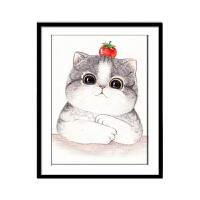 十字绣自己绣猫咪 十字绣2019小幅可爱卡通猫咪钻石画简单钻石绣动物卧室小件5dA