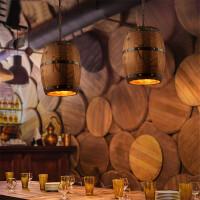 �凸��意餐�d原木�木桶吊�� 咖啡�d酒吧�b�木����性�W咖吊�� 送光源