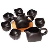 【新品】宜兴紫砂壶茶具套装整套原矿紫砂功夫茶具茶壶虎啸圣珑礼品 8件