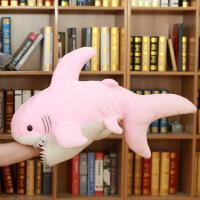 抖音沙雕鲨鱼毛绒玩具 可爱睡觉抱枕大白鲨仿真 儿童礼物布娃娃玩偶 90cm收藏加购送毛绒玫瑰花+代写贺卡