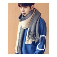 围巾男冬季新款韩版百搭简约男士围巾学生围脖针织毛线长款年轻人