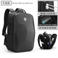 男士背包双肩包休闲15.6寸17.3电脑书包出差旅行笔记本商务大学生