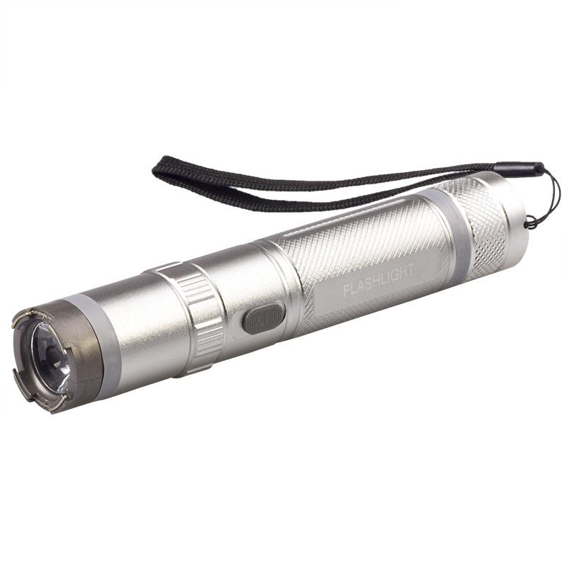 捷升led电击手电筒 充电式高压电棍 户外女子防狼防身电击棒910a