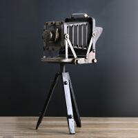 美式复古三脚架相机模型摆件工艺品 复古单反照相机礼品