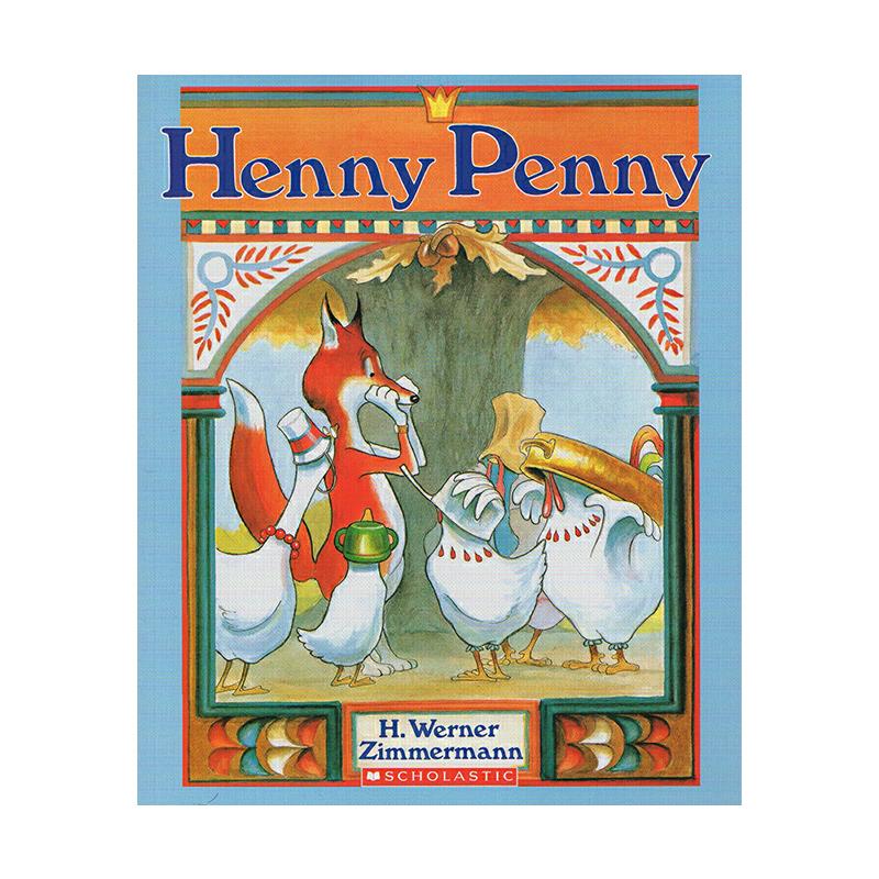 廖彩杏书单英文原版绘本 Henny Penny 小母鸡潘妮 3 6岁进口儿童英语早教启蒙