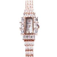 2018新款 萝亚克朗 高贵个性时尚女人镶钻手表 3612 金