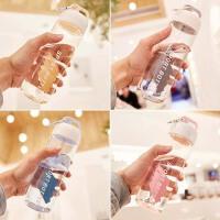 韩版大容量户外水杯塑料便携水壶女学生情侣简约创意运动杯子