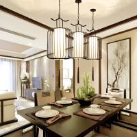 新中式餐厅吊灯三头复式楼贵族鸟笼吊灯简约客厅灯个性复古走廊灯
