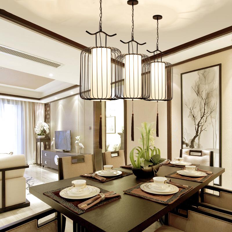 新中式餐厅吊灯三头复式楼贵族鸟笼吊灯简约客厅灯个性复古走廊灯 发货周期:一般在付款后2-90天左右发货,具体发货时间请以与客服协商的时间为准
