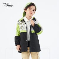 4.17�超品�A�帷�4折�A估�r:112】迪士尼男童外套2021春�b新款洋��和�����中�L款�B帽米奇童�b�L衣