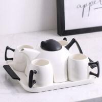 【好店】北欧风格茶具套装家用水杯客厅简约陶瓷杯子下午茶创意咖啡杯托盘