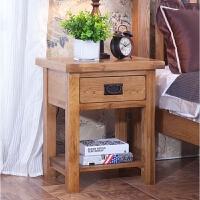 欧式白橡木 全实木家具 床头柜 灯桌 角柜 沙发边柜边几 整装