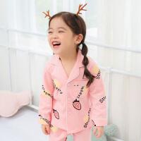 春秋季儿童女童睡衣长袖空调服夏季小女孩小孩宝宝家居服套装MYZQ41
