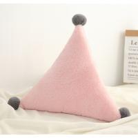 【2件5折】毛绒玩具 新年礼物 予米艺 新品ins星星月亮抱枕床头靠垫皇冠飘窗装饰沙发靠枕毛绒玩具定制 三角粉色