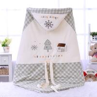 婴儿抱被秋冬婴儿包被男女宝宝中空棉夹层婴儿睡袋彩棉绣花提花2018wk-72