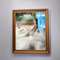 实木欧式相框a3 A4 10 12 16 18 20 24寸婚纱照片挂墙儿童摆台画