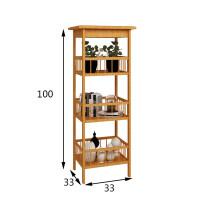 【热卖新品】卧室置物架子客厅落地厨房储物卫生间收纳中式实木架花架杂物架竹