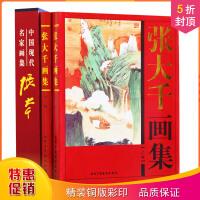 张大千画集全套2册 彩图 精装16开全两卷 艺术家爱好者临摹欣赏 中国名人名家画集 中国现代名家画集 名画欣赏珍藏