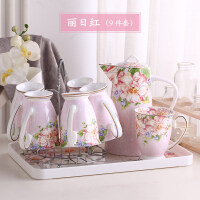 【好店】【好店】茶杯套装杯具套装陶瓷水杯子套装茶壶套装家用北欧式客厅简约*