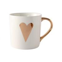 ins陶瓷马克杯带盖带勺北欧情侣杯牛奶水杯早餐咖啡杯杯子