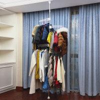 顶天立地阳台晾衣架落地伸缩单杆室内升降简易晒挂衣服架收纳神器 中