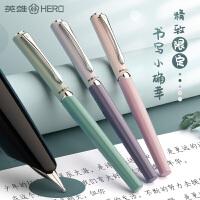 英雄HERO正品经典老款钢笔329特细0.38尖书写练字书法学生用钢笔