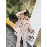 2019网红韩版大码女装洋气格子半身裙秋冬女胖MM高腰时尚百搭短裙