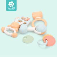 婴儿手摇铃儿宝宝早教牙胶玩具3-6-2个月0-岁2抖音 摇铃( 8件套 )