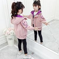 儿童夹棉上衣加厚女童秋冬装外套2019新款韩版小女孩洋气夹克