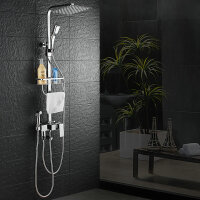 卫浴淋浴花洒套装全铜龙头冷热浴室沐浴淋雨增压喷头淋浴器