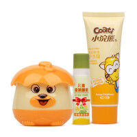 小浣熊儿童保湿霜30g宝宝面霜润护唇膏护手霜套装