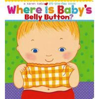 英文原版进口童书 Where Is Baby's Babys Belly Button 宝宝的肚脐在哪里 Karen Katz(凯伦・卡茨)经典代表作 3-6岁低幼儿童英语绘本图画