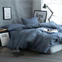 灰色水洗棉北欧被子四件套全棉纯棉床套被套床上欧式床单被罩定制