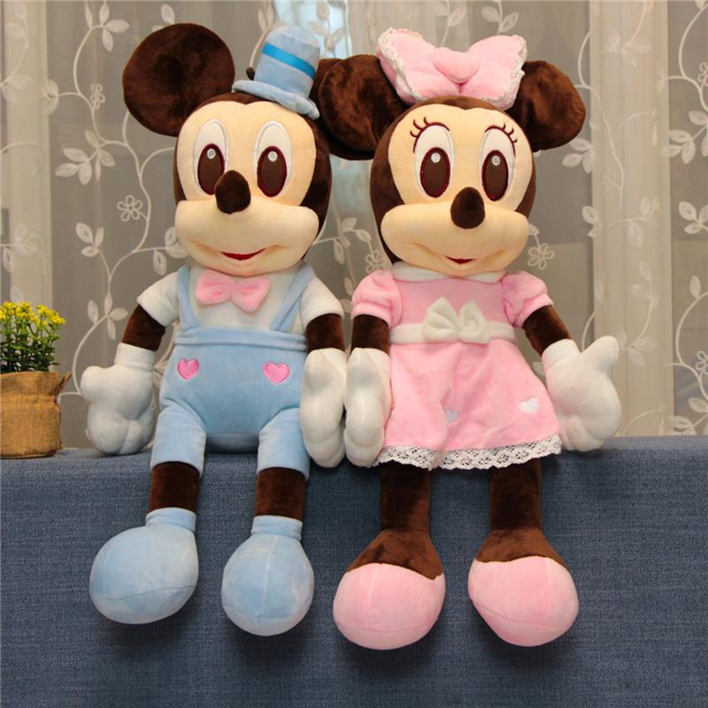 米奇公仔 蕾丝婚纱米老鼠毛绒玩具米奇米妮玩偶情侣公仔布娃娃儿童女孩礼物  声控说ILOVEYOU
