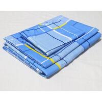 上下铺单人床兰格醉香格蓝白格子床单被罩三件套定制