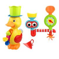 儿童大黄鸭子水车转转乐套装儿童沙滩戏水玩具宝宝男孩女孩浴室洗澡戏水玩水玩具 +眼睛转转乐