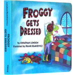 英文原版绘本 Froggy Gets Dressed 青蛙小吉 弗洛格穿衣服 吴敏兰书单 纸板书 幼儿英语启蒙故事