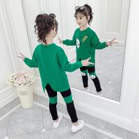 2019年春秋季新款洋气女孩运动套装儿童时髦童装女童秋装套装